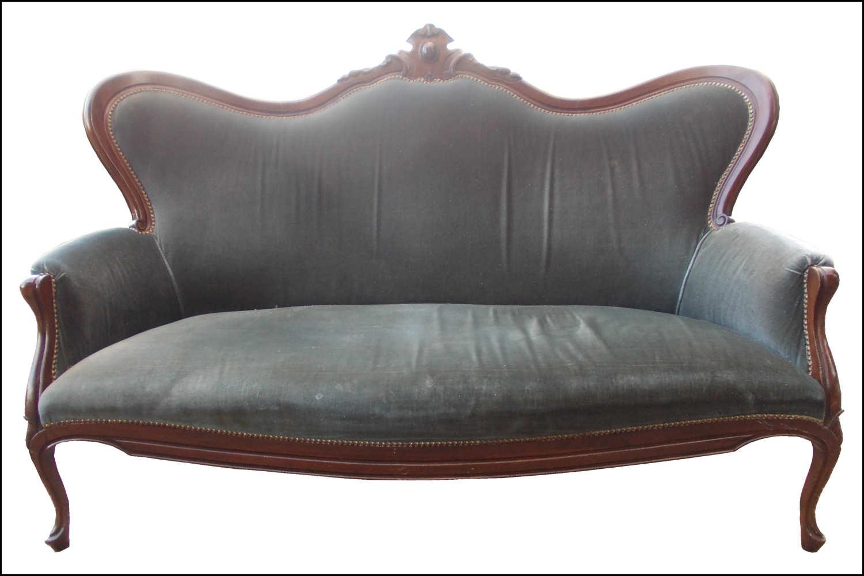renat 39 art canap en velours bleu. Black Bedroom Furniture Sets. Home Design Ideas