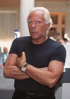 Fashion designer Giorgio Armani, who is 82 today