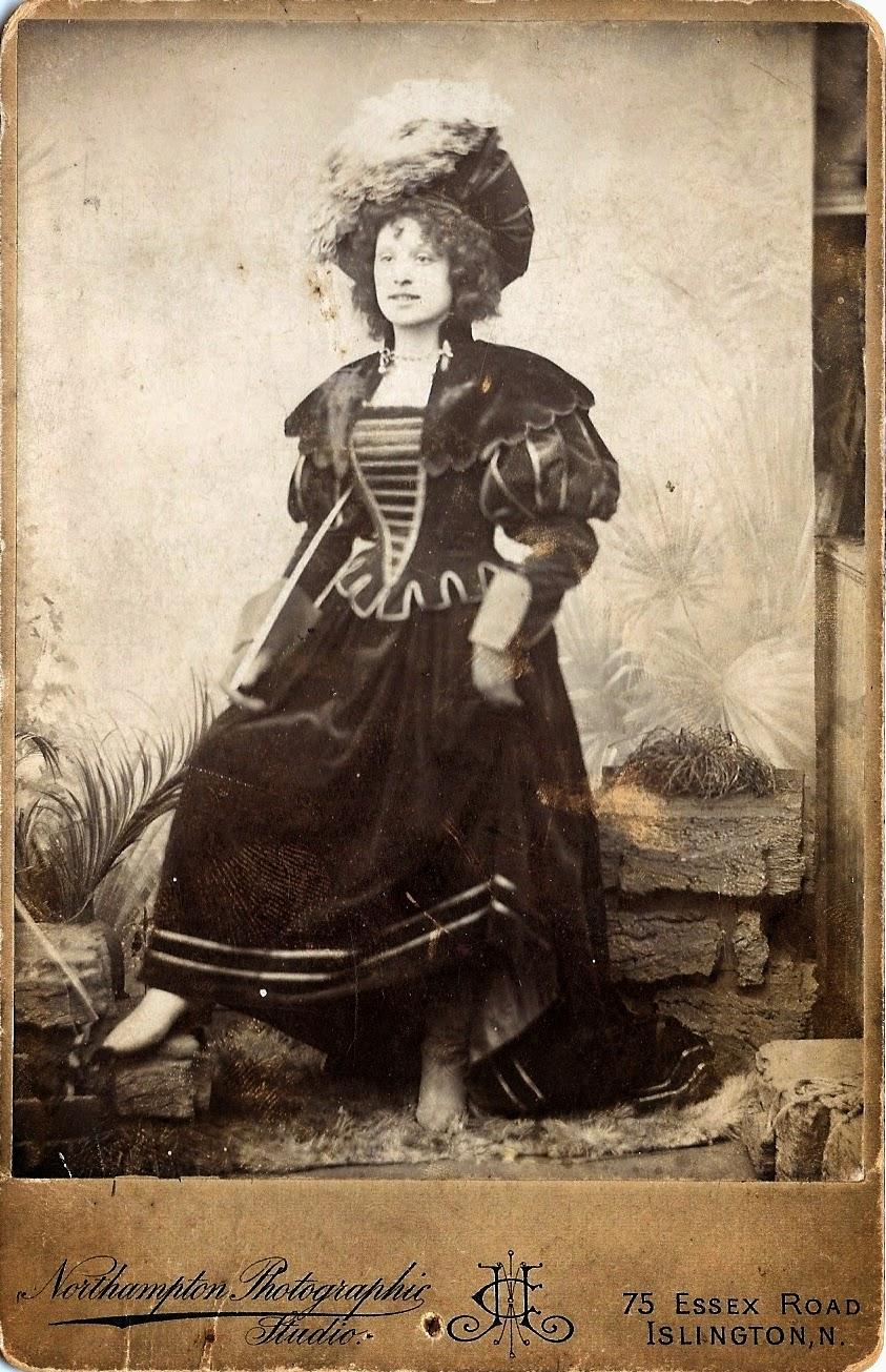 Mary Ann Rose in panto costume early 1900's