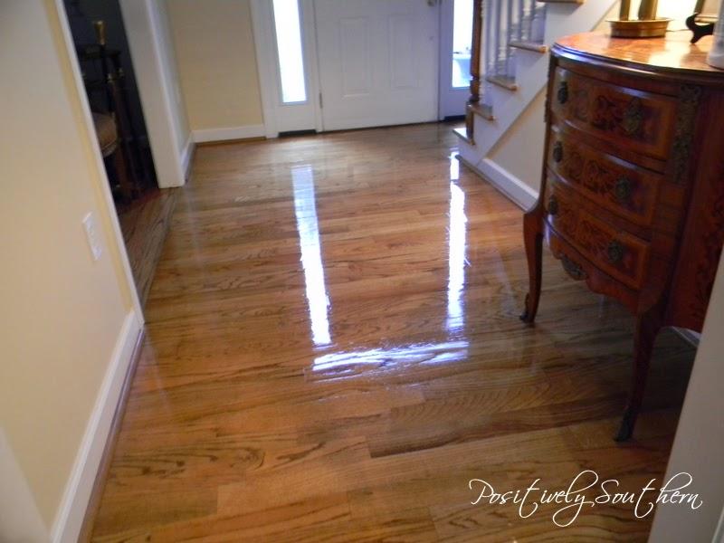 Positively Southern Polishing Hardwood Floors