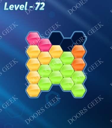 Block! Hexa Puzzle [5 Mania] Level 72 Solution, Cheats, Walkthrough for android, iphone, ipad, ipod