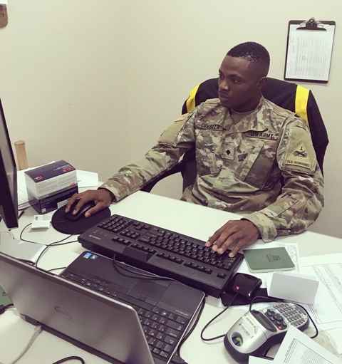 Handsome Nigerian Promoted To A Sergeant In US Army