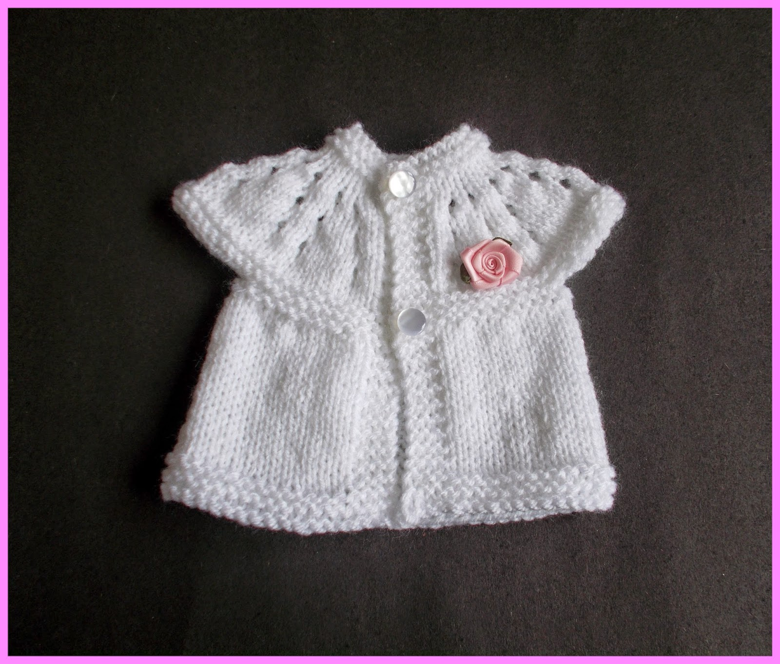 Knitting Top Down Patterns : Top down baby sweater knitting patterns easier to adjust