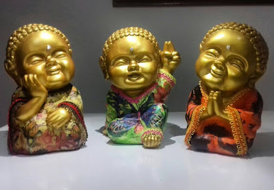 budas-dourados- trio-decoração
