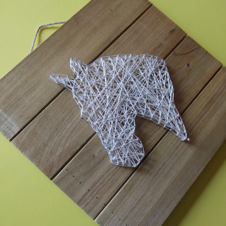 crafts, string art, art, craft, wall art, animal art, animal craft, kids crafts, tweens craft, teens crafts, easy string art idea, easy diy, diy, fun projects, easy projects for home, easy home decor,