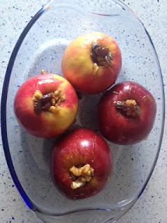Manzanas antes del horno