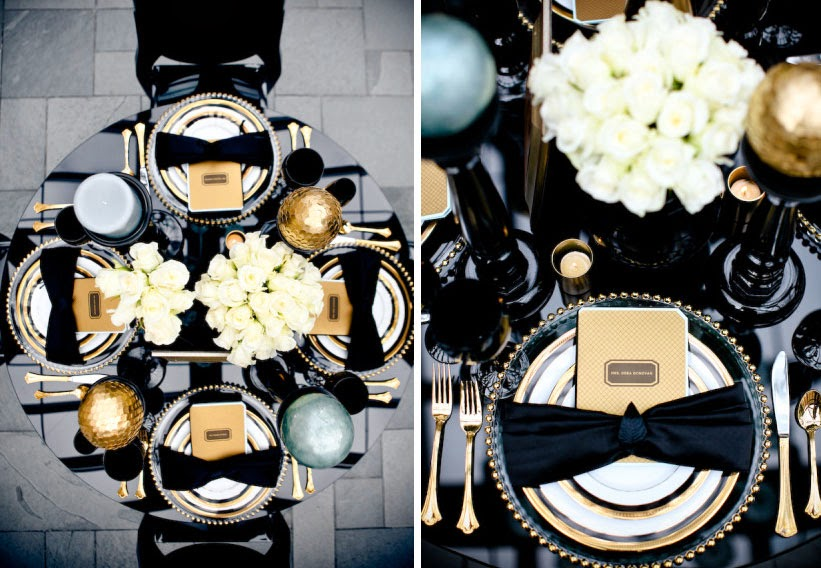 un monde merveilleux en black gold tout pour mon mariage. Black Bedroom Furniture Sets. Home Design Ideas