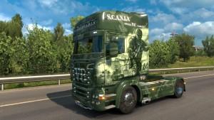 Scania RJL Military skin mod