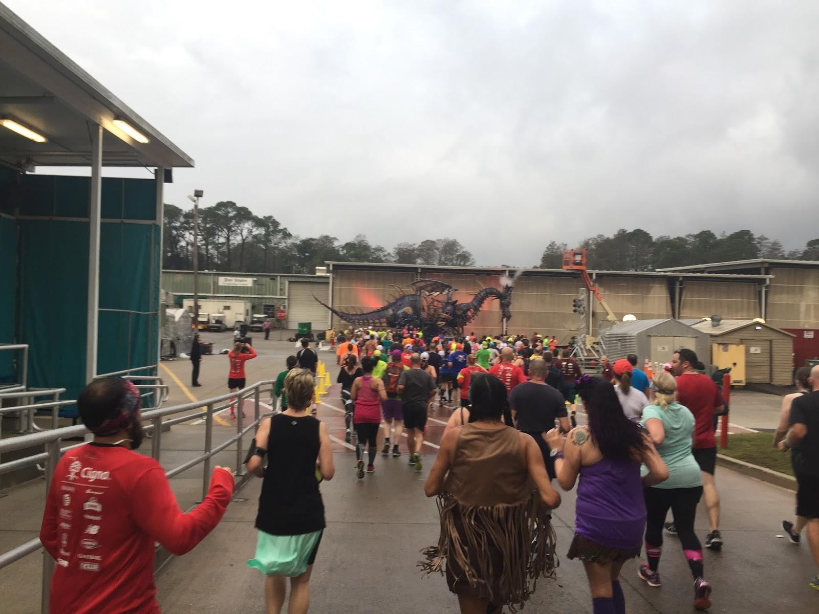 Dopey Challenge Mickey Marathon 2016 Running Maleficent as the dragon
