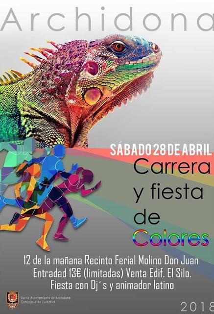 Carrera y Fiesta de Colores en Archidona