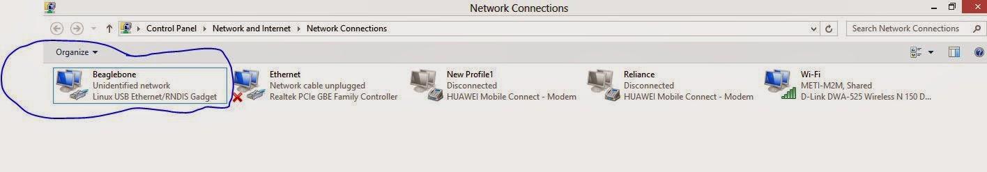 Internet connection to beaglebone black from laptop/desktop