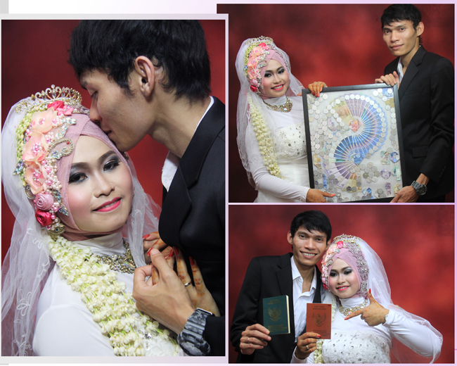 Final Design Foto Kolase Prewedding & Wedding TITIN & SAEP | KLIKMG Fotografer Wedding Purwokerto
