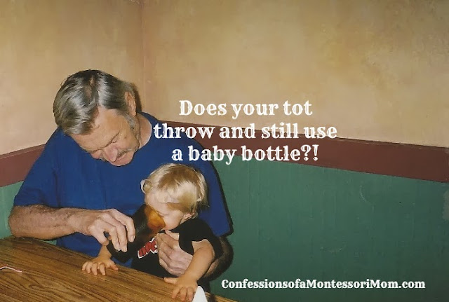 Does your tot throw and still use a baby bottle?