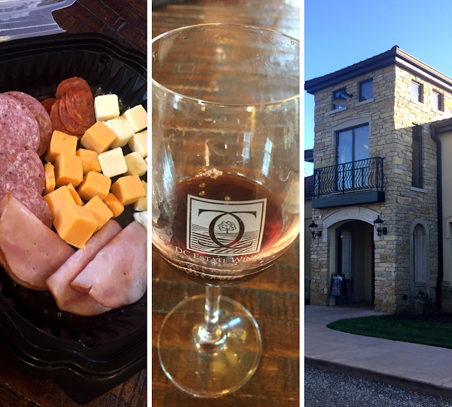 A wine tasting, a little noshing and a lovely venue at DC Estate Winery in South Beloit, Illinois.