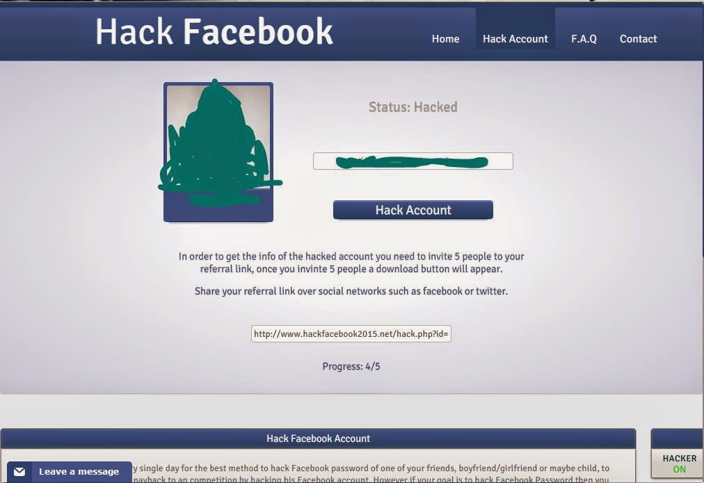 The reality of Facebook hacking
