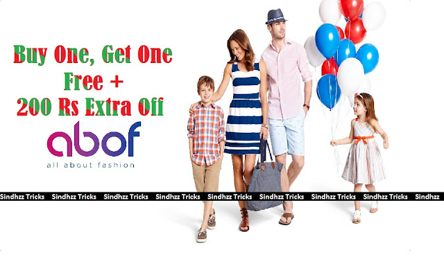 Abof - Buy One Get One Free and 200 Extra Discount