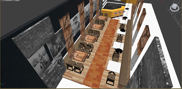 konsep desain cafe industrial