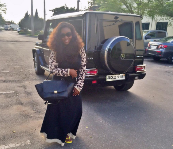 Ghanaian Actress, Jackie Appiah Shows Off Her Newly Acquired G-Wagon
