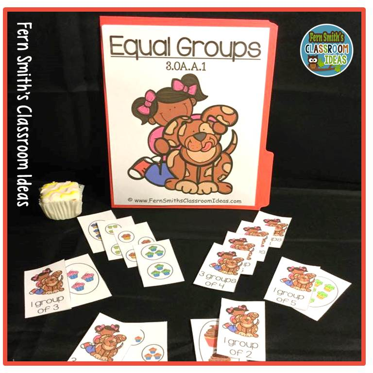 Classroom Ideas K 3 ~ Equal groups quick and easy to prep math center for oa