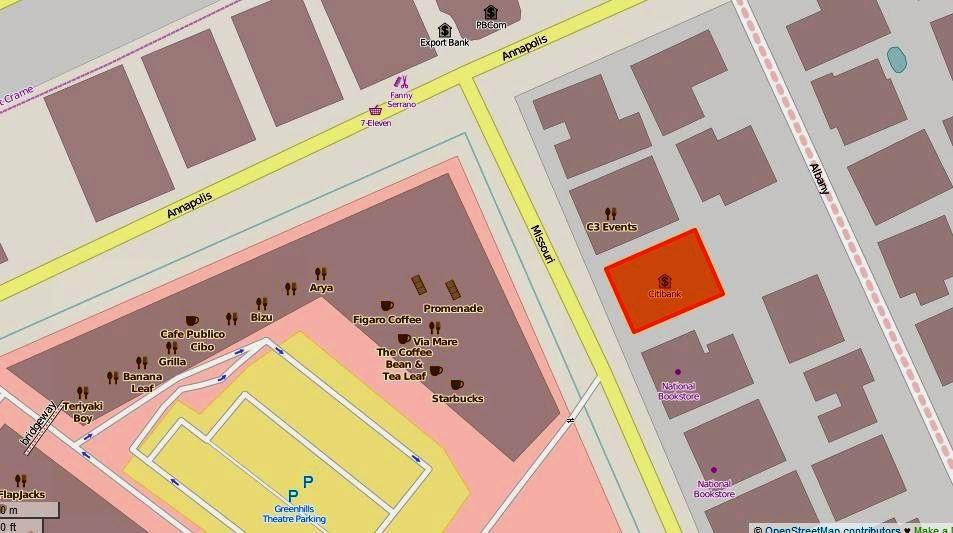 Citibank Location Map on