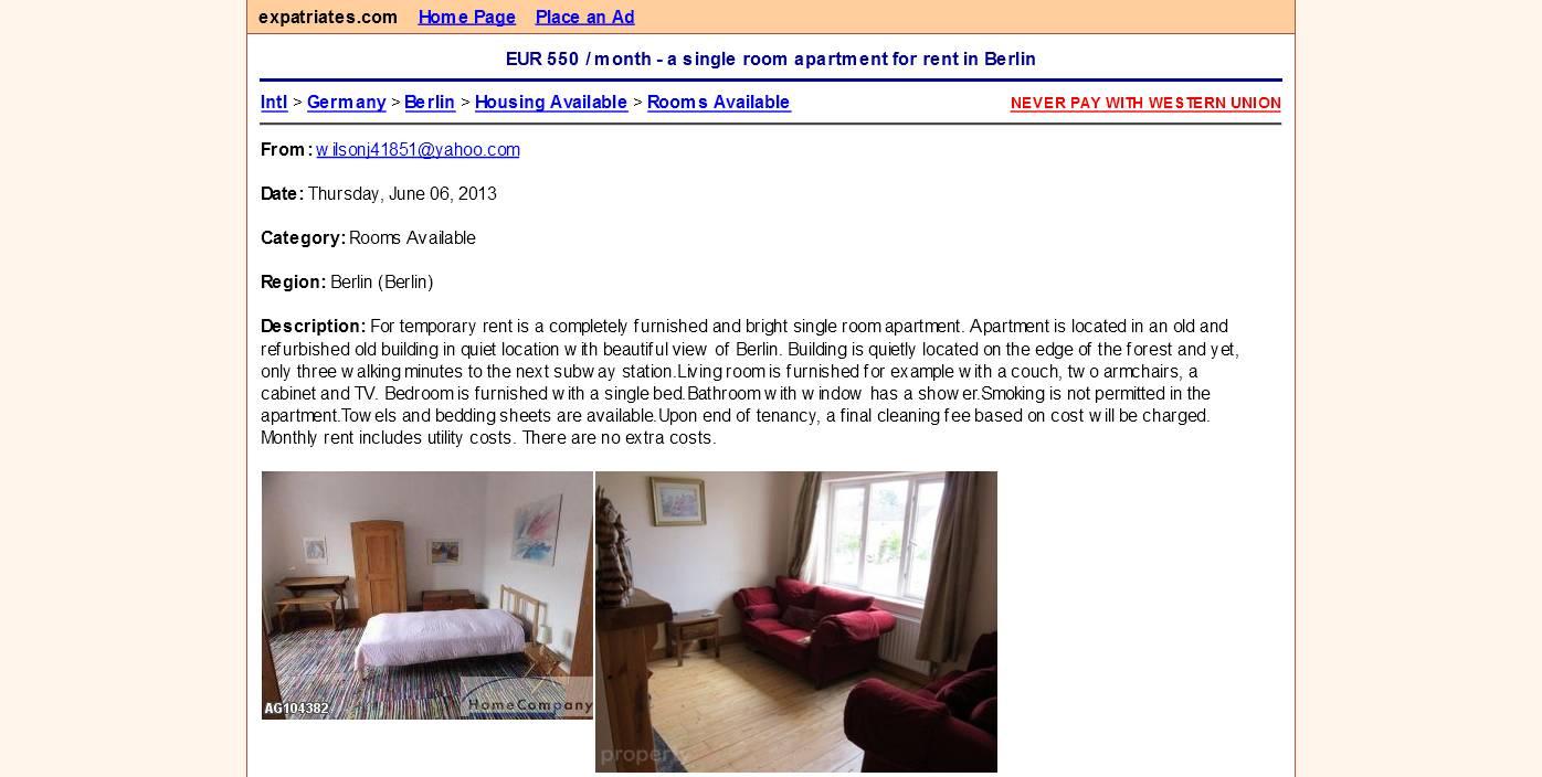 Wohnungsbetrug Blogspot Com Wilsonj41851 Yahoo Com