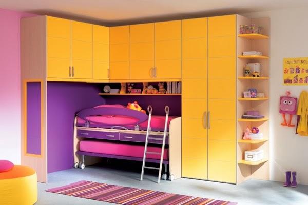 Dormitorios coloridos para dos hermanas - Dormitorios colores y estilos
