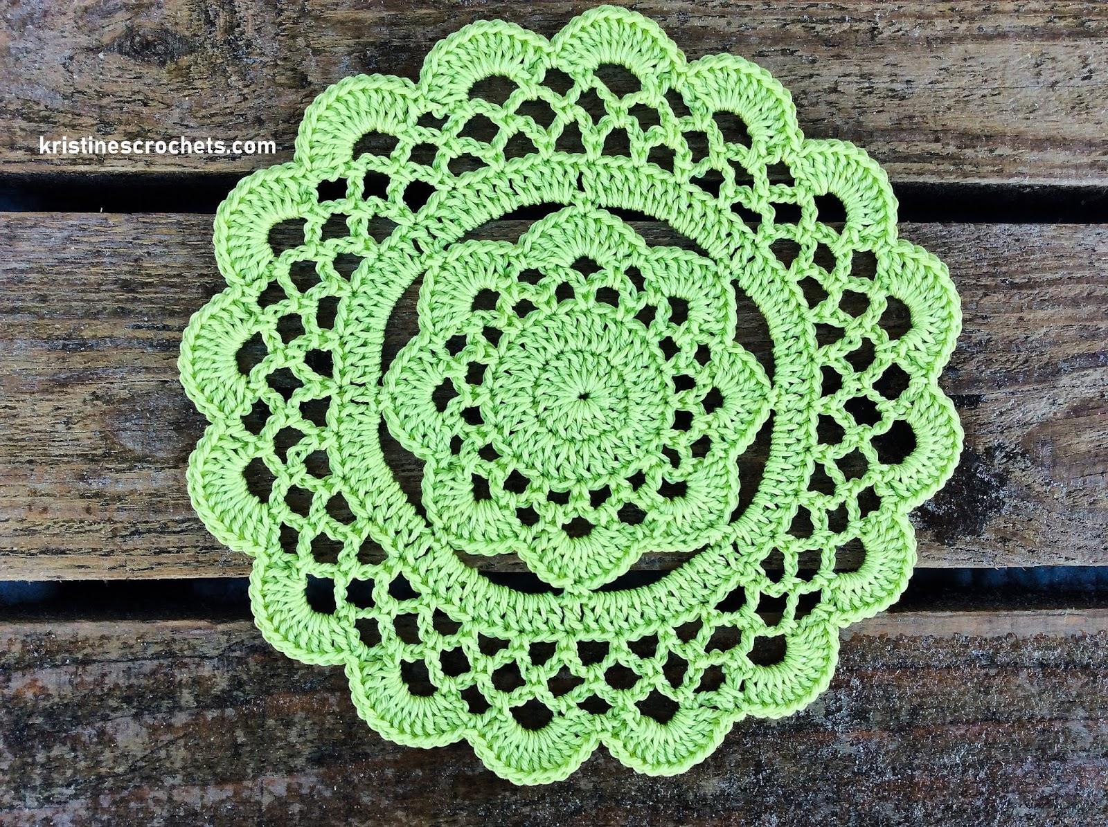 Kristinescrochets Easy Floral Doily Free Crochet Pattern