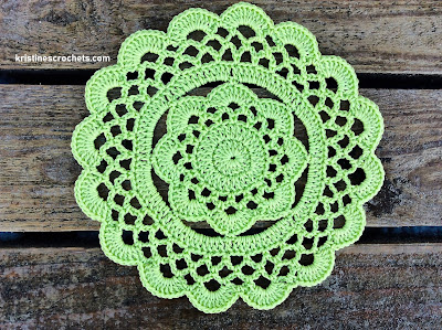 Easy Floral Doily Free Crochet Pattern