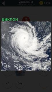 Бушует циклон и его вихри заворачиваются против часовой стрелки