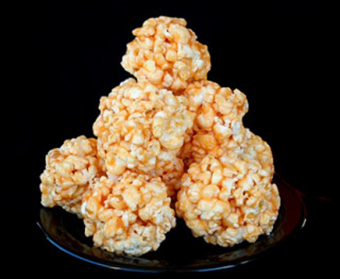 these are baked  caramel corn popcorn for halloween parties