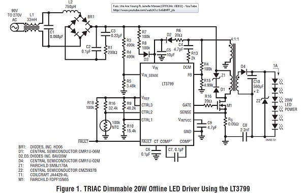 Simple High Power Triac Dimmable LED Driver