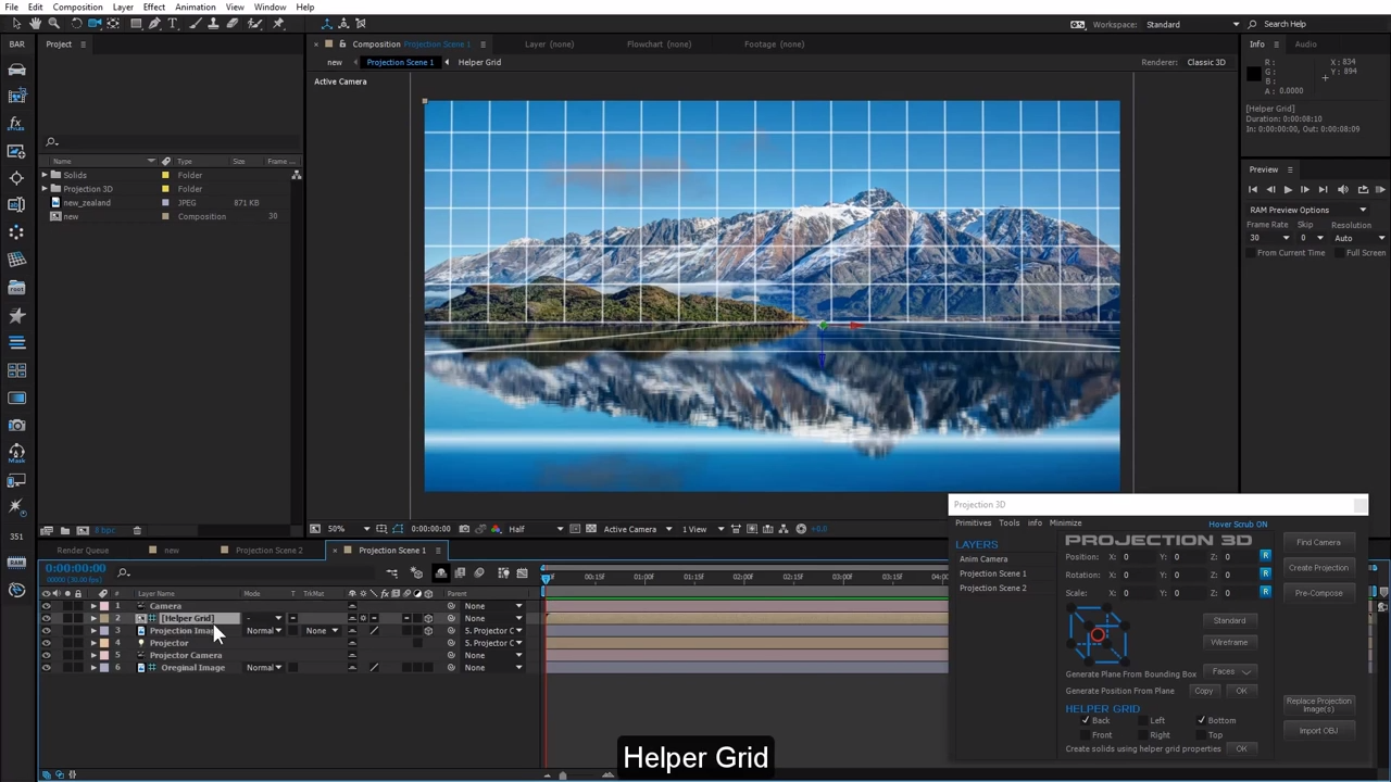 Working with Projection 3D in After Effects   CG TUTORIAL