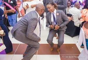 The Groom-lady is a great dancer?.See how they rocked on their wedding day(Photos)