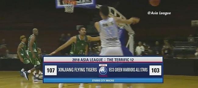 Xinjiang Flying Tigers def. iECO Green Warriors, 107-103 (REPLAY VIDEO) 2018 Asia League Terrific 12