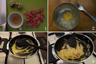 foto-preparazione-carbonara con uovo di quaglia-bambini