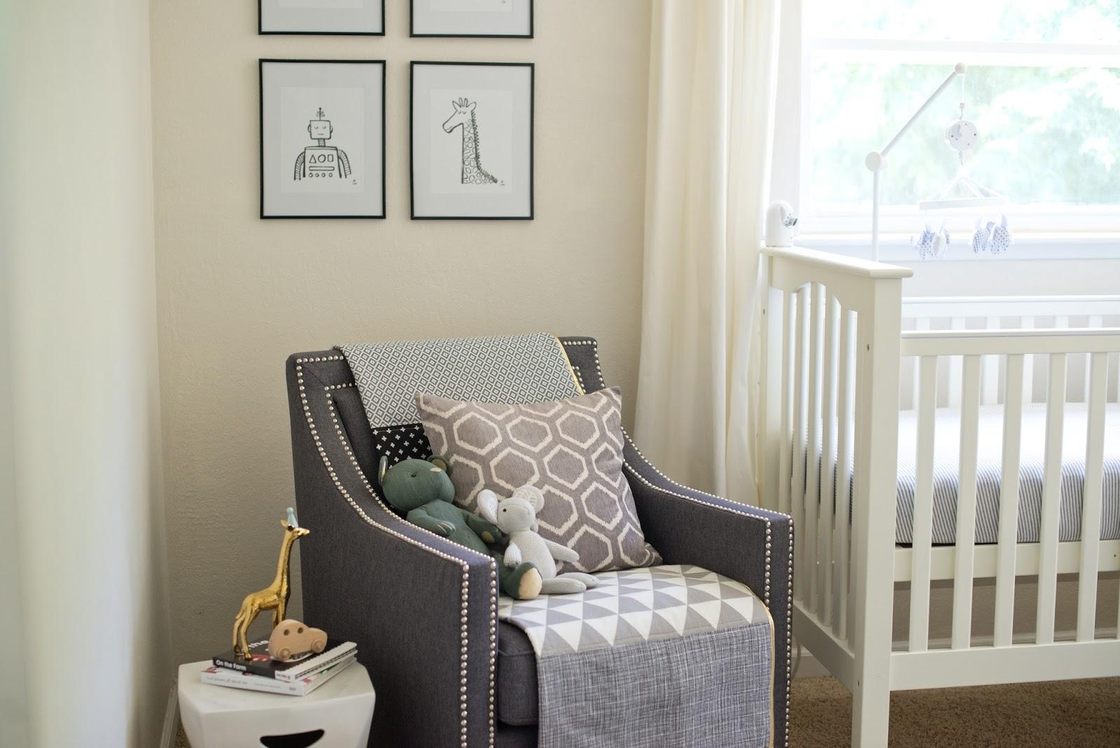 Domestic Fashionista: Neutral Gray and White Boy Nursery
