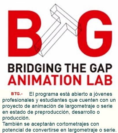 El laboratorio de animación Bridging The Gap ofrece becas completas para su tercera edición.