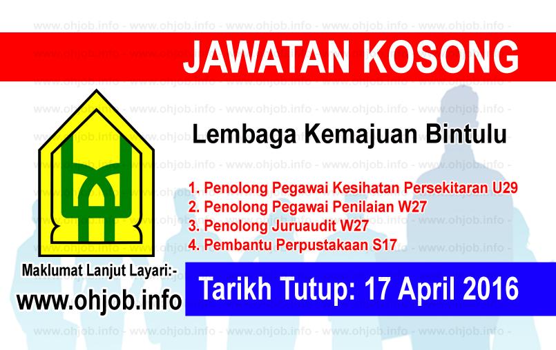 Jawatan Kerja Kosong Lembaga Kemajuan Bintulu logo www.ohjob.info april 2016