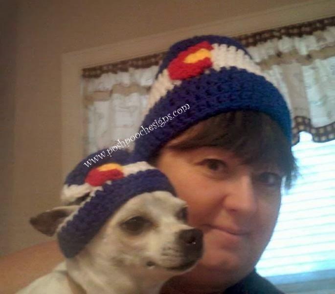 Posh Pooch Designs Dog Clothes Colorado Flag Hat Crochet Pattern