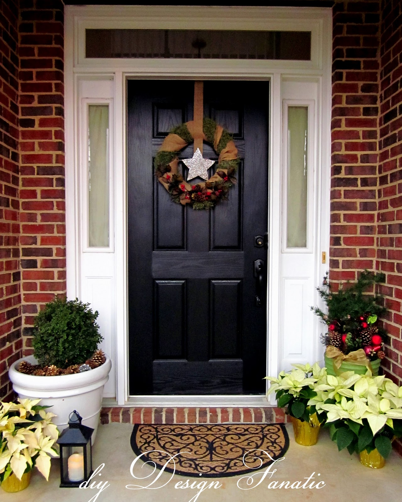 Garland For Front Door: I Might Put Up Some Lighted Garlands A Round The Door And