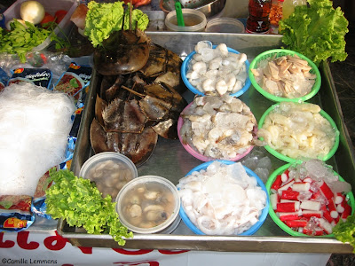 Koh Samui, temple party food, 2012