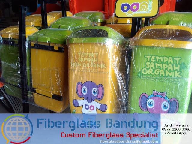 tong sampah fiber untuk CSR Rabbani