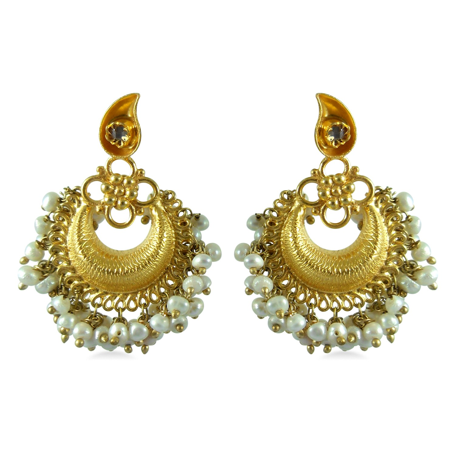 Ladies New Brands: Wedding Bridal Gold Ladies Earrings ...