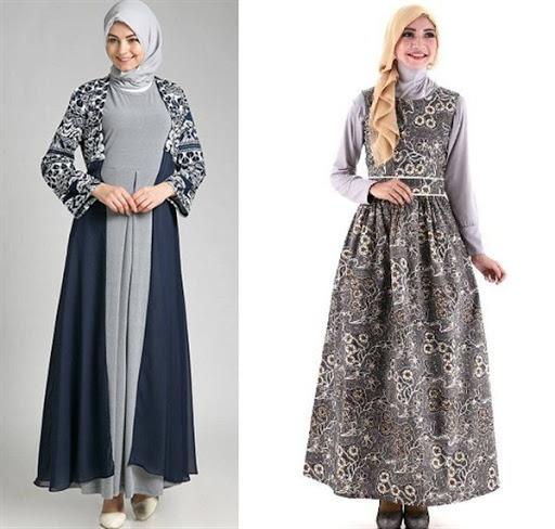 Model Baju Muslim Batik Pesta Terbaru 2017/2018