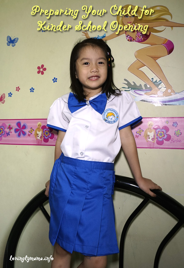 preparing for kinder school opening - full school uniform