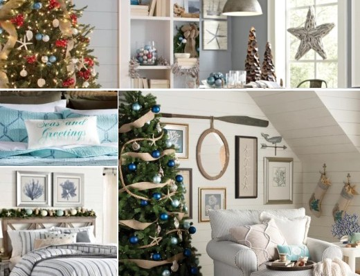Coastal Christmas Rooms Decor Ideas From Catalogs Shop The Look Coastal Decor Ideas Interior Design Diy Shopping