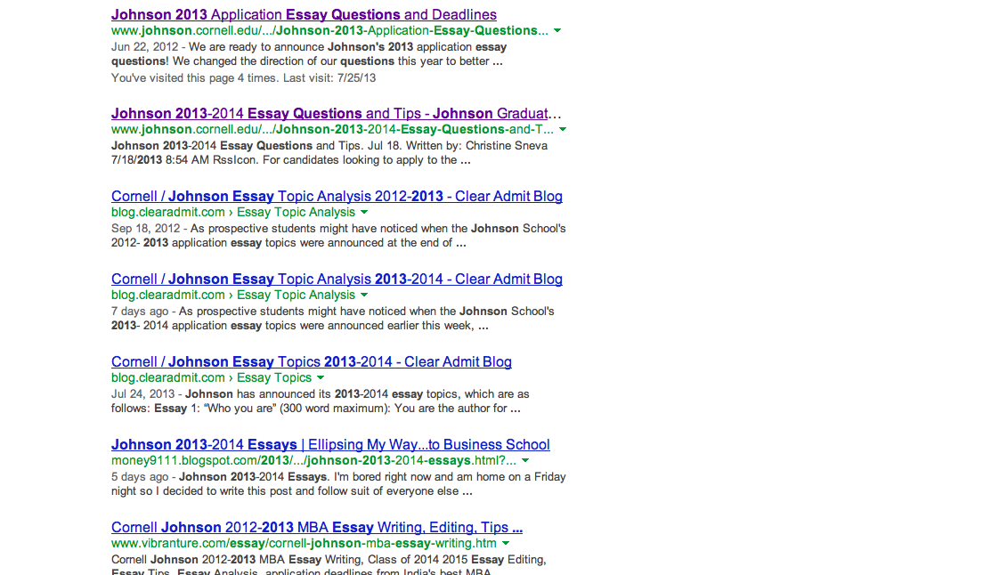 Cornell mba essay questions 2013
