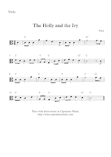 The Holly And The Ivy, viola sheet music