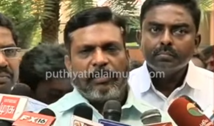 Breaking: VCK party supports DMK candidate for RK nagar election