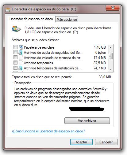 Archivos de copia de seguridad del Service Pack
